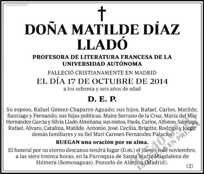 Matilde Díaz Lladó